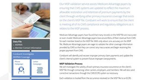 Payer MSP Validation