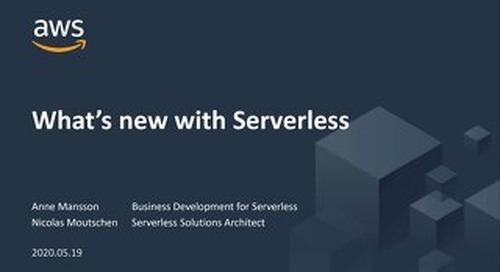 AWS webinar_What's New in Serverless_20200519