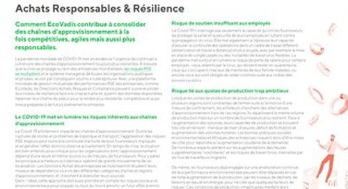 Pratiques responsables et résilience des chaînes d'approvisionnement