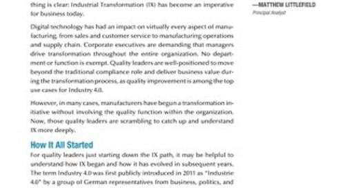Quality 4.0 for Quality Leaders: LNS Research