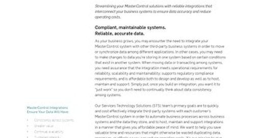 MasterControl Integration Services