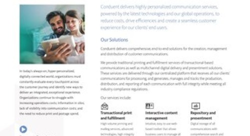 Customer Communications Sell Sheet