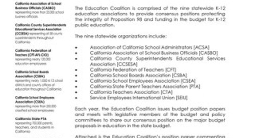 Education Coalition May Revision Letter - May 2020