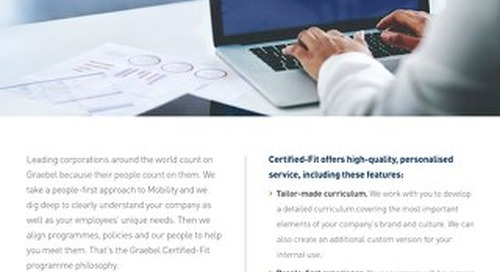 Graebel Certified-Fit Solution Sheet