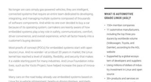 Accelerating Time-to-Market with Open Source for Car Systems