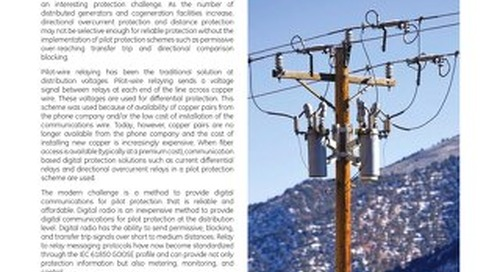 Case study: Application of Digital Radio for Distribution Pilot Protection