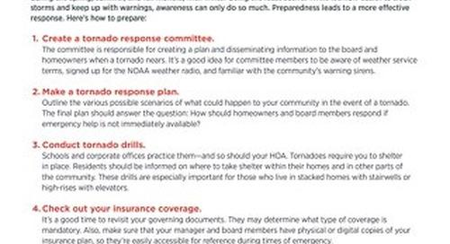 How to Prepare Your Community For a Tornado