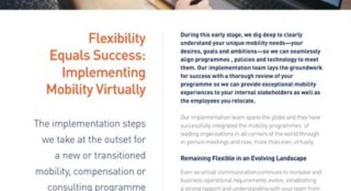 Graebel Virtual Implementation Solution Sheet - British English