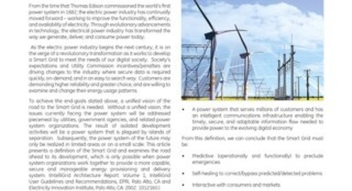 White Paper: Smart Grid - The Road Ahead