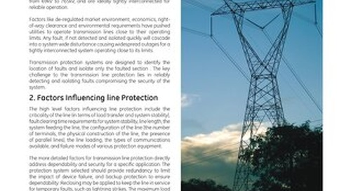 Case Study: Transmission Line Protection Principles