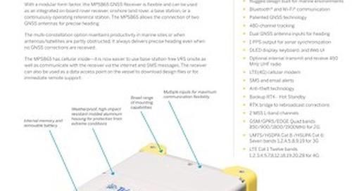 Trimble MPS865 Marine Positioning System GNSS Receiver Datasheet - EN