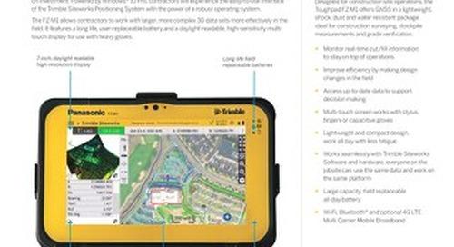 Trimble Panasonic Toughpad FZ-M1 Datasheet - English