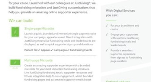 Datasheet: Digital Services