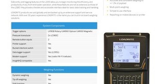 Trimble LOADRITE L2150 Loader Scale Datasheet - English