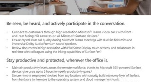 How Microsoft Surface Empowers the Remote Workforce