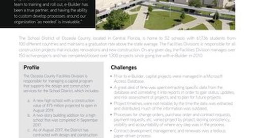 The School District of Osceola County, FL Streamlines Program Processes