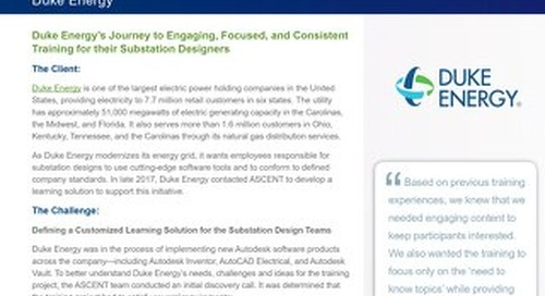 Customized Learning Solutions for Duke Energy's Substation Design Teams