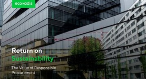 Return on Sustainability: The Value and ROI of Sustainable Procurement