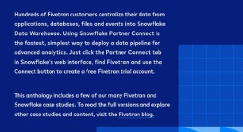 Case Studies: Snowflake & Fivetran Case Study Anthology
