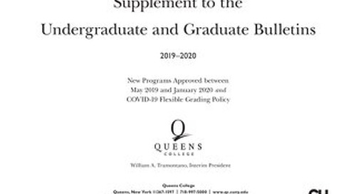 2019-2020 Supplement to Undergraduate and Graduate Bulletins