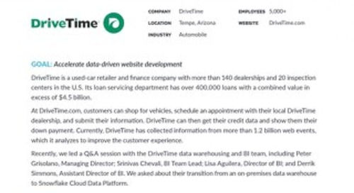 DriveTime: Meet the Customer Q&A
