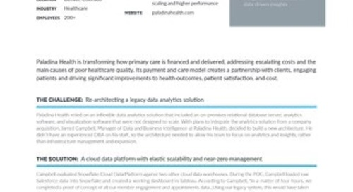 Paladina Health: Transforming Healthcare with Snowflake, Matillion, and Tableau