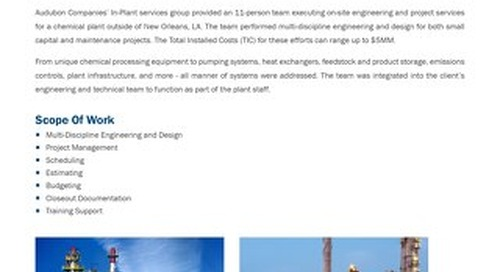 In-Plant Services Engineering