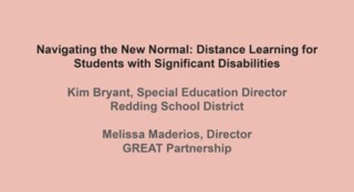 Navigating the New Normal Presentation - Students with Disabilities