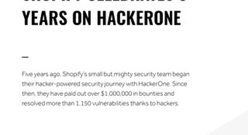 Shopify Celebrates 5 Years On Hackerone
