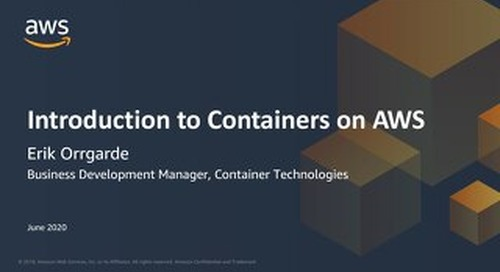 [Slides] Containers | Introduction to Containers on AWS