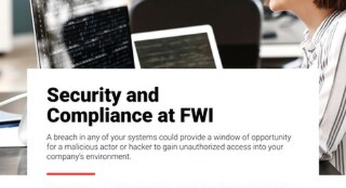 Learn About FWI's Data Security Posture