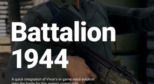 Battalion 1944: A quick integration of Vivox's in-game voice solution win's the battle for this game's community