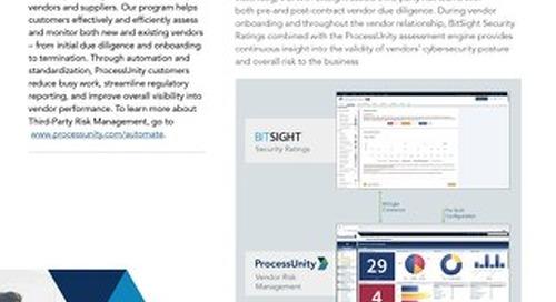 ProcessUnity Vendor Cyber Intelligence with BitSight