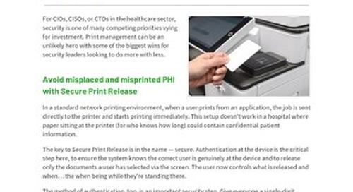 PaperCut Healthcare Security