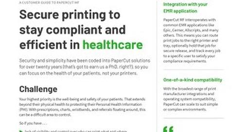 PaperCut Healthcare Compliance