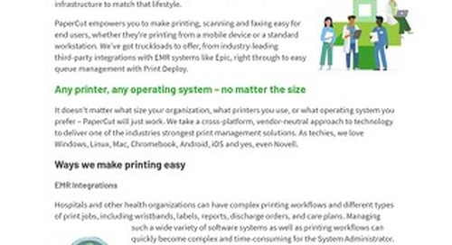 PaperCut Healthcare Ease of use
