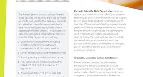 Patient Sensors Solution - DIA Resource