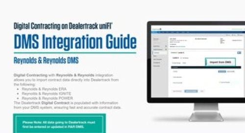 Digital Contracting DMS Integration Guide – Reynolds & Reynolds