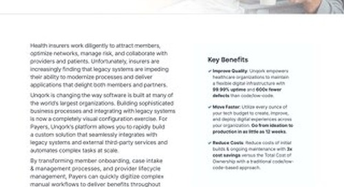 Industry Brief: Unqork for Healthcare Payers