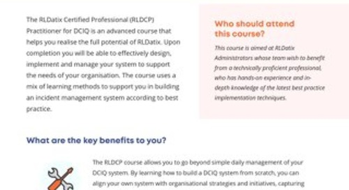 RLDatix Certified Professional Practitioner for DCIQ