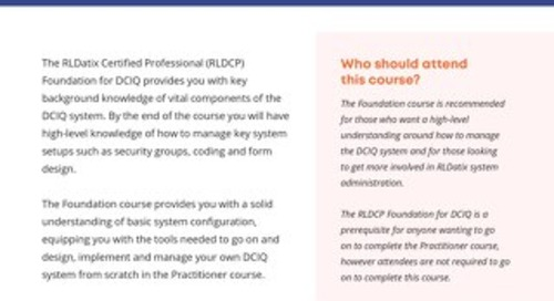 RLDatix Certified Professional Foundation for DCIQ