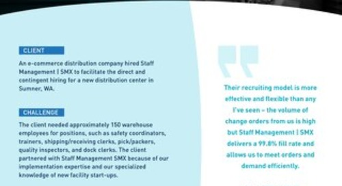 [Distribution] Customized Direct Hire Programs Produces Qualified Candidates at Lower Cost Case Study