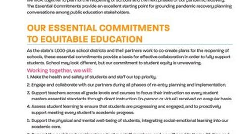 Reopening California Schools: Essential Commitments