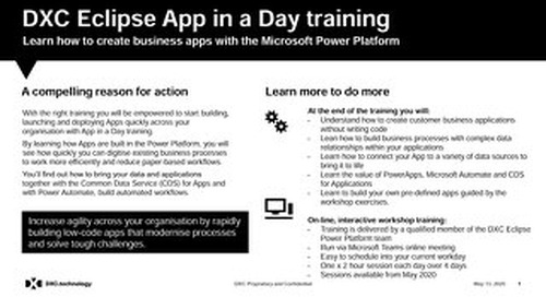 Power Platform Training - DXC 'App in a Day' - value added services