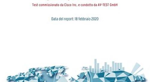 Test commissionato da Cisco Inc. e condotto da AV-TEST GmbH