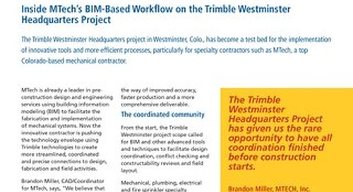Inside MTech's BIM-Based Workflow on the Trimble Westminster