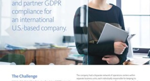 Easing the burden of verifying vendor and partner GDPR compliance for an international U.S.-based company