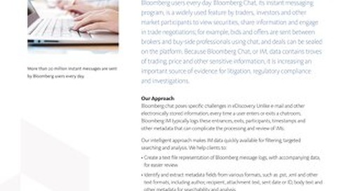 Bloomberg Chat eDiscovery Solutions