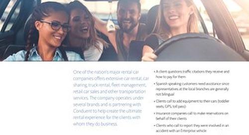 Conduent Helps Major Rental Car Company Meet Customer Needs Everyday