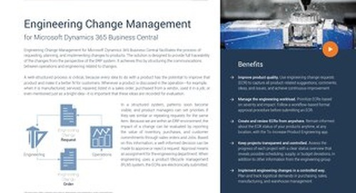 To-Increase Engineering Change Management for Microsoft Dynamics 365 Business Central